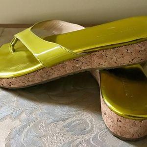 Jimmy Choo Flip Flop Wedge Sandals